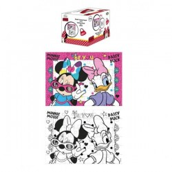 PUZZLE CUBO COLORING MINNIE...